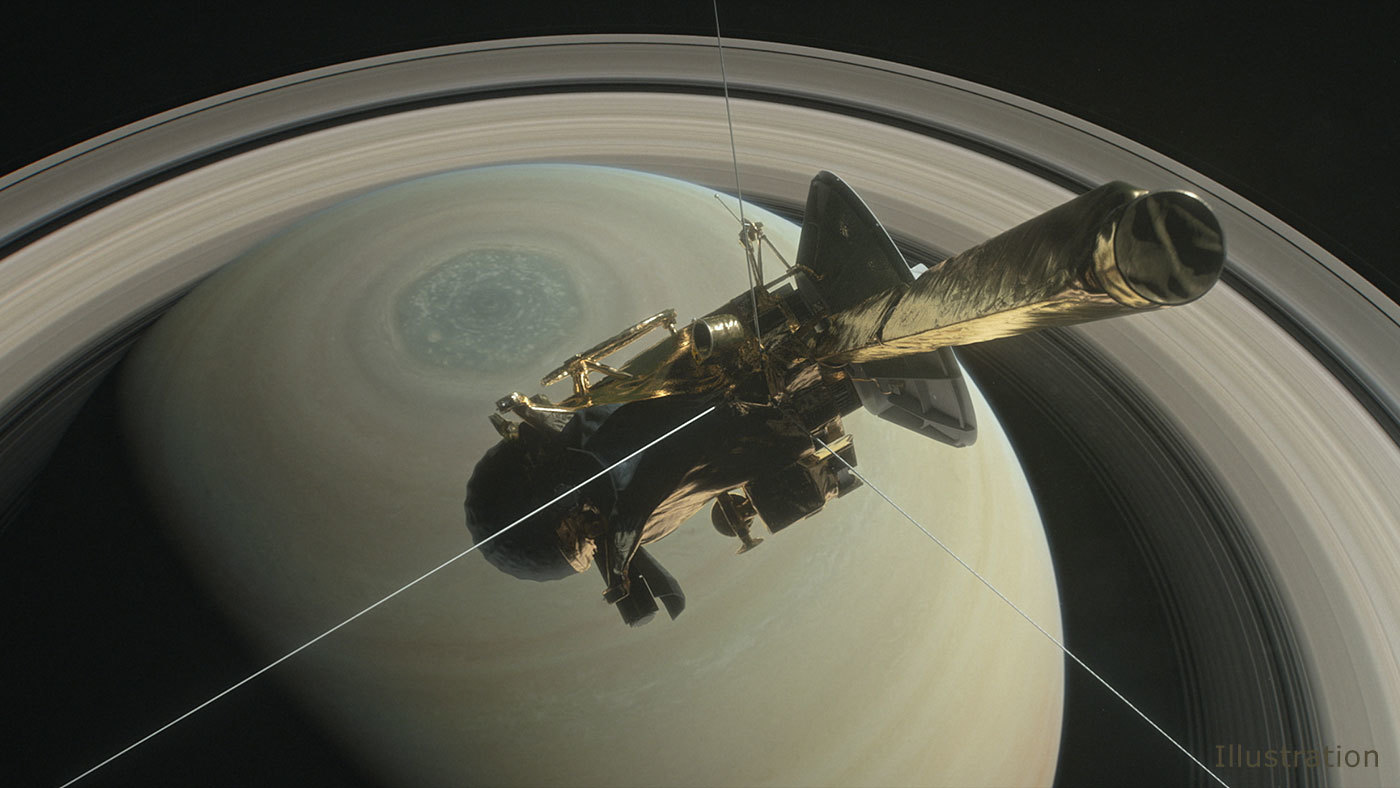 Cassini Inicia su Flamante Descenso sobre Saturno